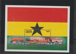 Ghana 1992 Trains BF 192 ** MNH - Ghana (1957-...)