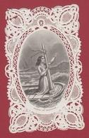 9AL1085 CANIVET IMAGE PIEUSE ANCIENNE Dentelles HOLY CARDS PRIERE DU NAUFRAGE - Images Religieuses