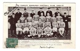 FOOTBALL Ou RUBBY- The Cardiff Roxburg Football Club, 1909-1910 - Football