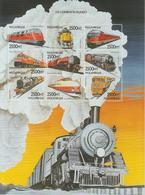 Mozambique 1999 Trains Série 1401BC-BL 9 Val ** MNH - Mozambique