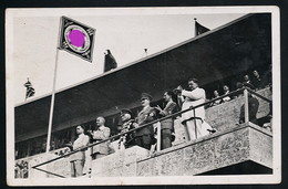 AK/CP Propaganda  Olympiade  Hitler  Goebbels  Göring  Mackensen  Hess   Gel/circ.1936   Erhaltung/Cond. 3  Nr. 00778 - Guerra 1939-45