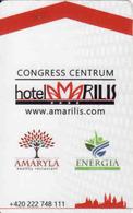 Hotel Keycard Czech Republic, Hotel Amarilis Magnetic Card, Prag - Praha - Cartes D'hotel