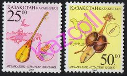 Kazakhstan 2003. Traditional Musical Instruments. Dombra, Kobyz.  MNH** - Kasachstan