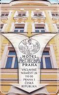 Hotel Keycard Czech Republic, Hotel Adria Magnetic Card, Prag - Praha - Cartes D'hotel