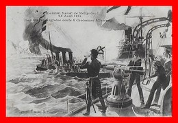 CPA MILITARIA.  Combat Naval De Héligoland 28 Août 1914, Cuirassés, Marins...I288 - Weltkrieg 1914-18
