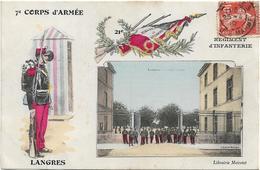 7è CORPS D' ARMEE / REGIMENT D' INFANTERIE / LANGRES / CASERNE TURENNE / MILITAIRES - Langres