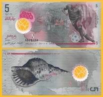 Maldives 5 RufiyaaP-new 2017 UNC Polymer Banknote - Maldive