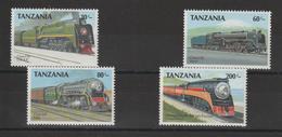 Tanzanie 1989 Trains Série 464-7 4 Val ** MNH - Tansania (1964-...)