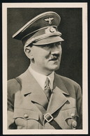 AK/CP Propaganda  Hitler  Nazi Stapellauf Schlachtschiff Bismarck   Gel/circ.1939   Erhaltung/Cond. 1-  Nr. 00780 - Guerra 1939-45