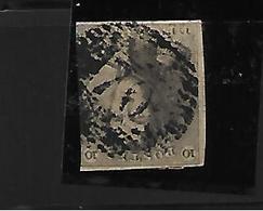 België N° 1  Stempel 70  Roeulx - 1849 Schulterklappen