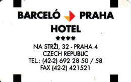 Hotel Keycard Czech Republic, Hotel Barceló Praha, Magnetic Card, Prag - Praha - Cartes D'hotel