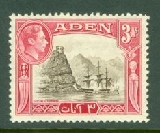 Aden: 1939/49   KGVI    SG22   3a     MH - Aden (1854-1963)