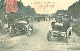 (72) Circuit De La Sarthe (1906) : Le Départ Aux Tribunes De La Touloubre (Equipe Bayard) (animée) - Unclassified