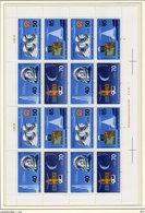 Raumflug 1986 Gagarin DDR 3005/8 Kleinbogen C FN1 ** 150€ Jähn Kosmosflug Hb Bloc S/s Space Sheetlet Bf GDR Germany - Zusammendrucke