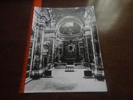 FOTO ALINARI-ROMA-CHIESA DI SANTA MARIA DELLA VITTORIA-L'INTERNO(CARLO MADERNO) 25X20 CIRCA - Luoghi