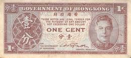 1 Cent Hongkong 1952 VF/F (III) - Hongkong