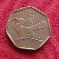 Botswana 5 Thebe 1998 KM# 26  Botsuana - Botswana