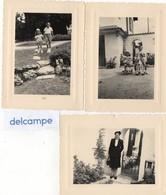 """3 Photos Anciennes - SUISSE - COINTRIN -  Villa  """" Cantarella """"  3 Septembre 1950 - Orte"""