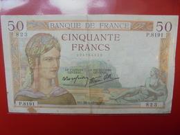 FRANCE 50 FRANCS 1938 ALPHABET P CIRCULER (B.4) - 1871-1952 Frühe Francs Des 20. Jh.