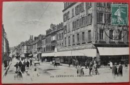 Cpa 50 CHERBOURG Anime Rue Gambetta A LA FRILEUSE Maison RATTI, Pas Courant - Cherbourg