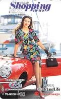 FEMME - WOMAN - AUTO  - VOITURE - AUTOMOBILE - CAR -- TELECARTE JAPON - Auto's