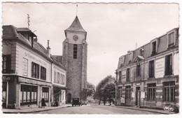 94  Val De Marne -  VILLIERS-sur-MARNE -  Place De L'Eglise - Dispensaire Municipal - Poste - Cpsm 1957 - Villiers Sur Marne