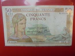 FRANCE 50 FRANCS 1939 ALPHABET R CIRCULER (B.4) - 1871-1952 Circulated During XXth