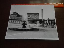 FOTO ALINARI-ROMA-PIAZZA DELLA BASILICA DI SAN PIETRO CON VEDUTA DEL PALAZZO VATICANO -  25X20 CM - Luoghi