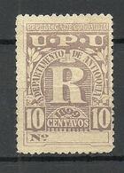 COLOMBIA KOLUMBIEN 1899 Einschreibemarke Registration Michel 119 (*) - Kolumbien