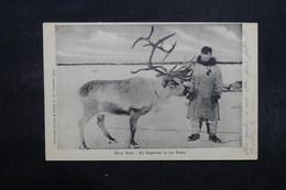 ETATS UNIS - Carte Postale - Esquimaux Et Son Renne - L 32017 - Etats-Unis