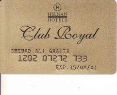 Hotel Keycard Egypt, Helnan Hotel Club Royal - Cartes D'hotel