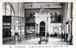 Cpa(17)--la Rochelle La Gare La Salle Des Pas Perdus (esquiè Arch) (sèpia) - La Rochelle