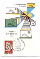 CARTE MAXIMUM 1974 JOURNEE DU TIMBRE - Cartes-Maximum