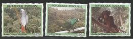 1991 Togo Forest Wildlife Parrots Chimpanzee  Complete Set Of 3 MNH - Togo (1960-...)