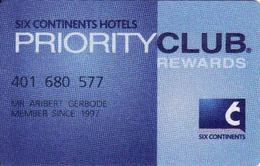 Hotel Keycard Six Continents Hotels Priority Club Hotel Card Rewards - Cartes D'hotel