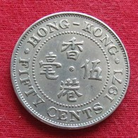 Hong Kong 50 Cents 1971 KN KM# 34 *V1  Hongkong - Hong Kong