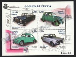 Spain - Espagne 2013 Yvert 4478-81, Transport. Vintage Cars. Mercedes, Citroën, Volkswagen, Seat - Miniature Sheet - MNH - 1931-Hoy: 2ª República - ... Juan Carlos I
