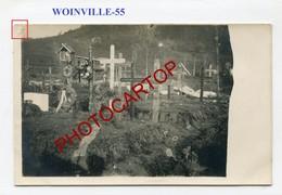 WOINVILLE-Cimetiere Militaire-CARTE PHOTO Allemande-Guerre 14-18-1WK-France-55- - France