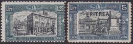 """223 ** Eritrea 1927 – Francobollo D'Italia Milizia I Con Soprastampa """"ERITREA"""" La Serie Non Emessa N. 118A/A119A. Cat. € - Eritrea"""
