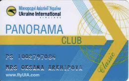 Ukraine, Airline Magnetic Card FlyUIA, Panorama Club - Moteurs