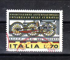 Italia   -  1975.  Congresso Delle Ferrovie. Congress Of Railways. Timbro Lusso - Treni