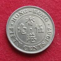 Hong Kong 50 Cents 1967 KM# 30.1  Hongkong - Hong Kong