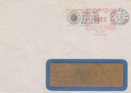 1954 SVIZZERA Berna Campionato Mondo Di Calcio Annullo Meccanico (25.6) Su Busta Affrancatura Meccanica C.20 - Self-Help