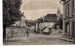 - CPA SAINT-JULIEN-DU-SAULT (89) - La Grande-Rue - Entrée Du Bourg En Venant De La Gare - Collection J. D. - - Saint Julien Du Sault