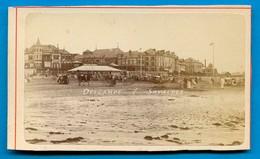 Calvados - TROUVILLE Plage - CDV Photo Vers 1880 - Photographs