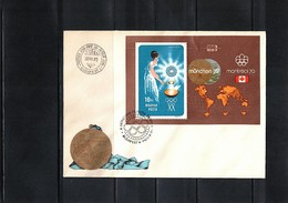 Hungary / Ungarn 1973 Olympic Games Muenchen + Montreal Michel Block 96A FDC - Sommer 1972: München