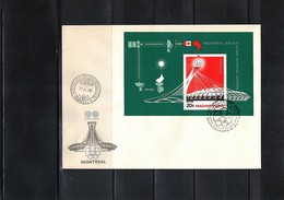 Hungary / Ungarn 1976 Olympic Games Montreal Michel Block 119A FDC - Sommer 1976: Montreal