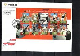 Austria / Oesterreich 2004 100 Jahre Oesterreichischer Fussball Bund  FDC - Fussball