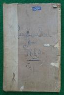 Cahier D'arpentage Ouvert En 1849 - Département De L'Aisne - Communes De Marchais En Brie Et Environs - Technical Plans