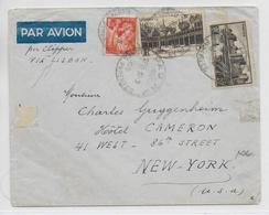 1941 - ENVELOPPE Par AVION De PAU => NEW YORK (USA) Via LISBONNE Par CLIPPER - DESTINATION ! - 1921-1960: Periodo Moderno
